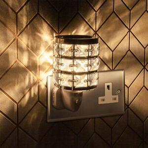Compact Plug In Desire Aroma Wax Melt Warmer Black Diamante Crystallized Style