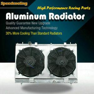 2794 2 Row Aluminum Radiator + Fan Shroud For Dodge Neon SRT-4 L4 2.4L 03-05