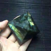 Natural Flash Labradorite Crystal Gemstone Pyramid Meditation Reiki Healing