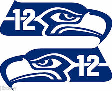 """Seahawks 12th Man decal 7.3"""" left/right set"""