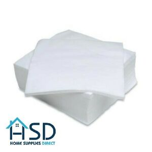 HSD White Lint Free Cloth Applying Oil Dye Wax Polish Dusting Cleaning 30 x 30cm