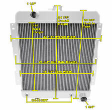 3 Row SR Champion Radiator for 1958 Chevrolet Biscayne V8 Engine
