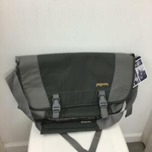 NEW Jansport Flywheel Messenger Bag Laptop Notebook Sleeve Carbonic Grey NWT