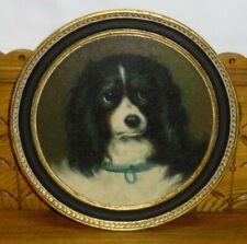 "Chelsea House Oil Painting On Panel - King Charles Spaniel Dog ""Dash"""