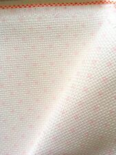 White Pink Spot 14 Count Zweigart Aida cross stitch fabric  various size options