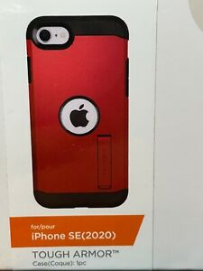 Spigen Tough Armor with Kickstand for iPhone SE 2020, 7, 8 - Red - ACS01241