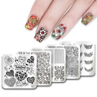Nail Art Stamping Plates  Valentine's Day Heart Image Templates UR Sugar