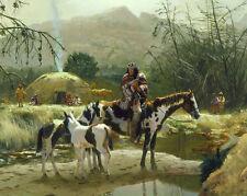 "The Navajo Settlement ,Art Canvas Print Oil Painting Home Decor 16""x20"""