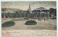 Bad Pyrmont - Brunnenplatz Litho gel. 1902