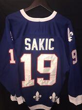NHL CCM -Vintage Quebec Nordiques Jersey Joe Sakic#19 Captain Men Size 50