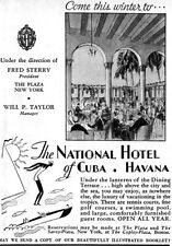 National Hotel of Cuba UNDER THE LANTERNS OF THE DINING TERRACE 1933 Print Ad