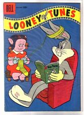 Looney Tunes #182 Bugs Bunny Reading! Golden Age Dell Comic Book ~ Vg