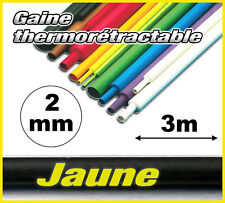 GJ2-3# gaine thermorétractable Jaune 2mm 3m ratio 2/1  gaine thermo jaune