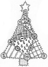 Unmounted Rubber Stamps, Christmas Tree Stamp, Quilted Tree, Holiday Tree Stamps