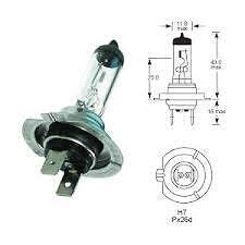 100 x H7 / 499 / 477 lampadine 2 PIN CONNETTORE 12V 55W Lampadina Proiettore