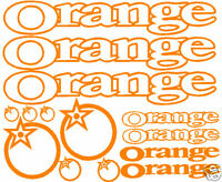 14 sticker set fits Orange mountain bike downhill frame