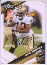 devery henderson auto autograph saints lsu #/499 2009