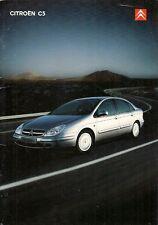 CITROEN C5 Hatchback 2001-02 UK Opuscolo Vendite sul mercato esclusivo se SX LX