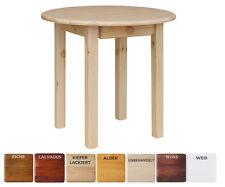 Runder Kiefer Tisch mit SCHUBLADE Esstisch Küchentisch massiv Restaurant NEU