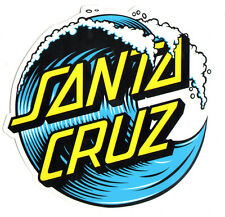 Santa Cruz Skateboard / Surf Sticker - waves surfing skating skate board large