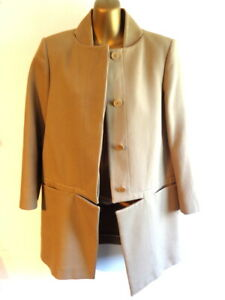 Stella McCartney UK14 - 44 Camel tailored 3/4 coat  conceal buttons  (3009