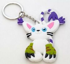 Digimon Gatomon Tailmon Rubber Keychain 3 Inches Double Sided US Seller