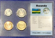 Rwanda 1 - 20 francs 1977-1987 XF UNC Circulation Coin Set - World Currencies