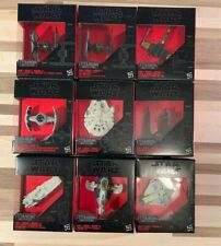 Hasbro Star Wars Die Cast Ships Vehicles New in Box - Lot of 9