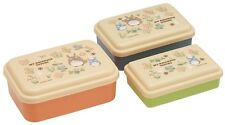 3 Sets Microwavable Bento Box My Neighbor Totoro Lunch Box Container Japan Made