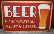 """BEER Vintage Style Poster Retro Metal Tin Signs Art Wall Plaque Bar Decor 8x12"""""""