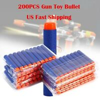 200pcs 7.2cm Refill EVA Foam Bullet Darts for Nerf-Elite Series Blasters Toy Gun