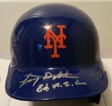 Lenny Dykstra Autographed/Signed Mets Mini Helmet  - w/COA '86 WSC'
