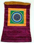 Om Mandala Thangka im roten Brokatrahmen handgemalt Nepal Buddhismus Nr.4