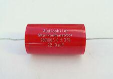 22uF 250V MKP Bipolaire Condensateur Audio Amplificateur À Tubes croisé STOCK UK