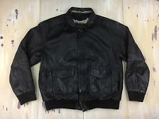 BOMBER JACKET TYPE A-2 - Vtg 1958 Leather Flyers Army Air Force Coat, XL TALL