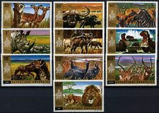 Rwanda 1972 SG#456-465 Akagera National Park Wildlife MNH Set #D58758
