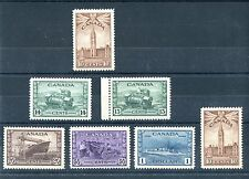 High Values WAR ISSue bottom row MH,  rest MNH  Cat $200+ Canada used