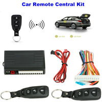 Universal Car Remote Central Kit Door Lock Keyless Entry System Alarm Burglar