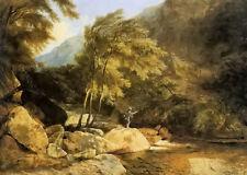 Dream-art Oil painting henry john boddington the angler by the stream landscape