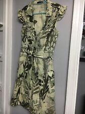 Ladies JANE NORMAN Summer Cotton  Dress 10. LINED TO BOTTOM HALF.  NWOT