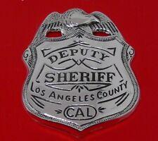 More details for solid sterling silver franklin 1987 police badge deputy los angeles sheriff 24g