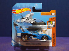 2018 Hot Wheels DODGE CHARGER DAYTONA in BLUE - HW Muscle Mania 5/10 Short Card