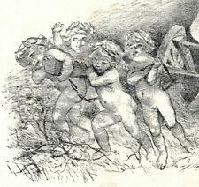 Tirage à part lithographie de Adolphe Willette  Fin 19eme
