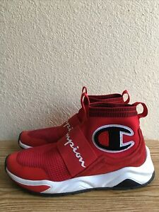 Champion Rally Pro MensLifestyle High Top Shoes Red Black White CPS10125M SZ 9