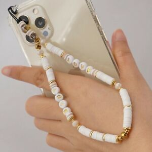 Mobile Phone Strap Lanyard Colourful Beaded L.O.V.E Beads
