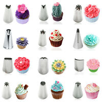 Stainless Steel Icing Piping Nozzles Cake Decoration Tips Baking Tools 23 Styles