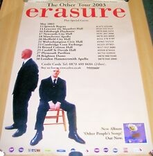 "ERASURE STUNNING POSTER FOR THE ""THE OTHER TOUR"" OF THE U.K. IN 2003"
