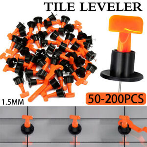Tile Levelling System Leveler Tools Floor Wall  Set Kit Reusable Construction UK
