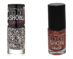 Maybelline New York Nail Polish Top Coat Set of 2 Pink Splatter & Rose Mirage
