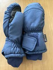 Vintage Thinsulate Waterproof Snowmobile mittens gloves large Blue 10� Nwt